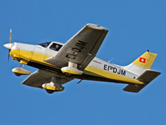 Piper Warrior EI-DJM on takeoff
