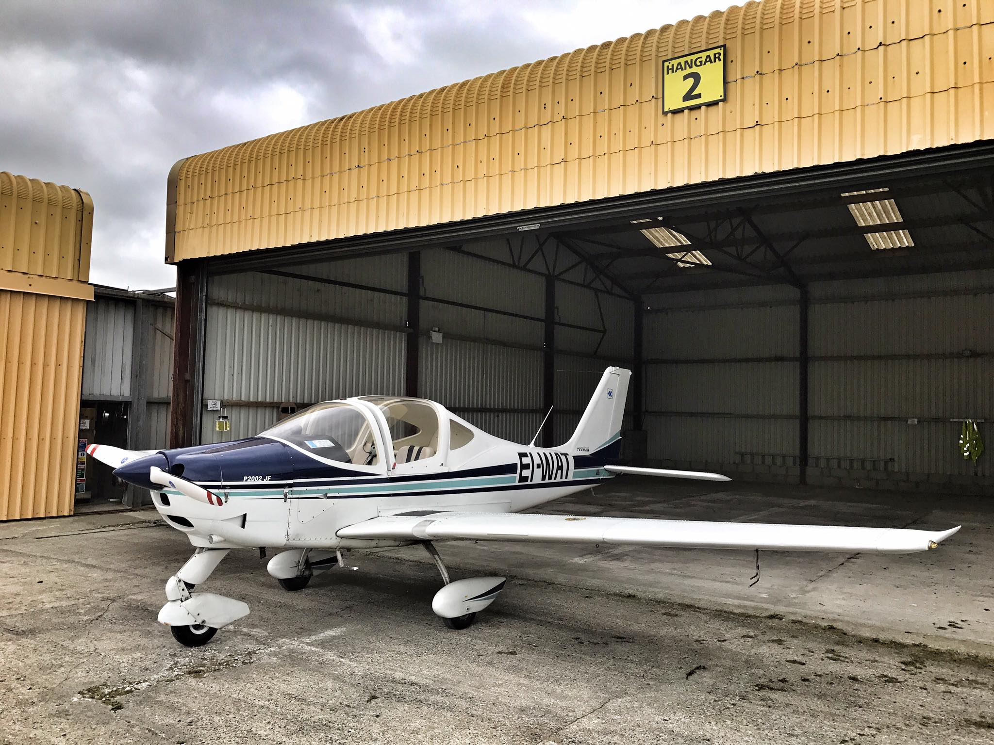 P2002JF EI-WAT in the Waterford Aero Club hangar