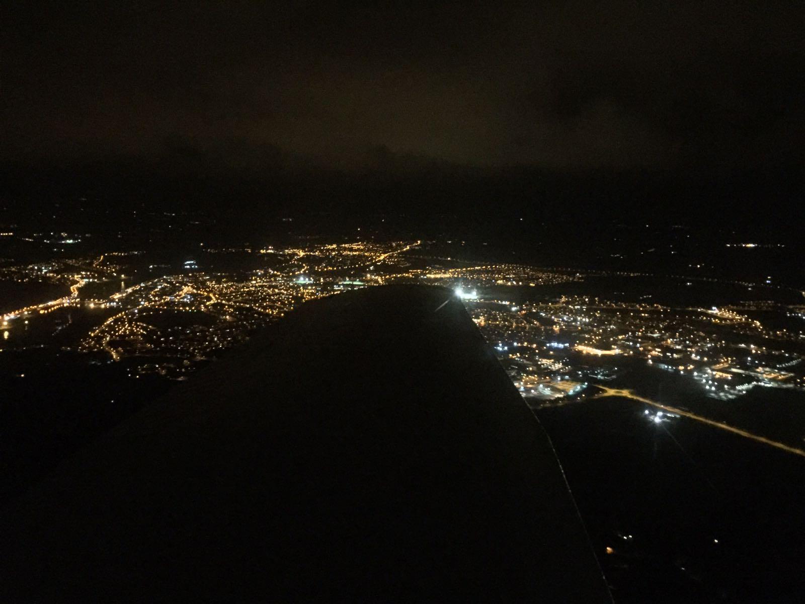 Night flying in Waterford in EI-DJM