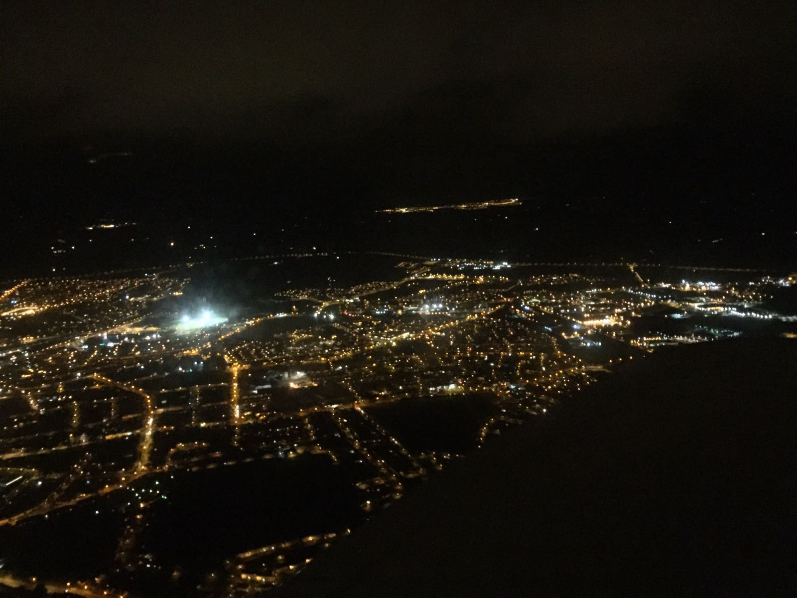 Night flying in Waterford in EI-DJM