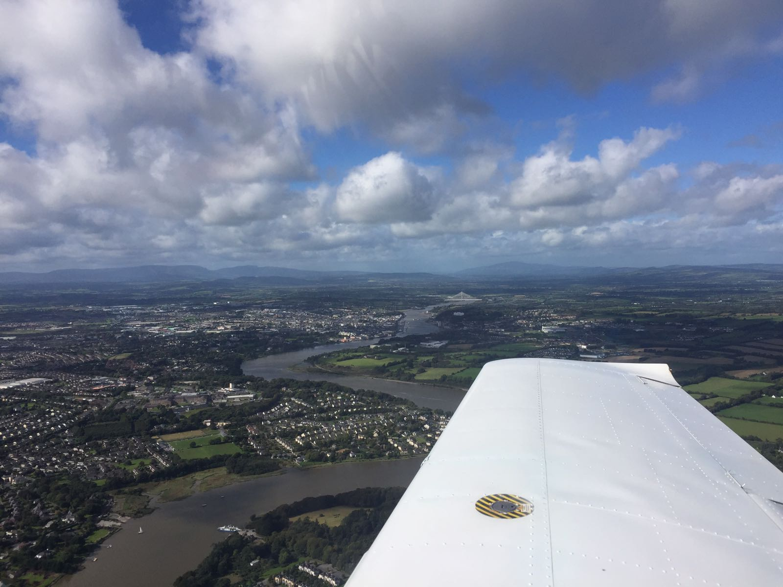 Waterford city from the air