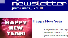 Cover of our January 2011 Newsletter