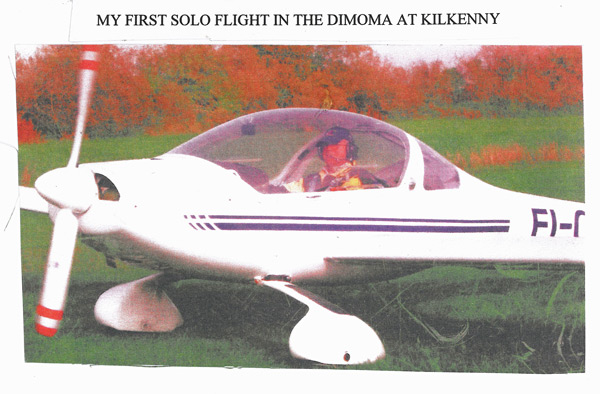 Dick Cole's first solo in the Dimona at Kilkenny airport